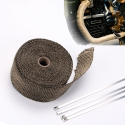 5M Titanium Exhaust Heat Wrap Manifold Downpipe High Temp Bandage Tape Roll ― AUTOERA