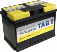 EFB Auto akumulators -  TAB (START & GO), 70A, 680A, 12V (-/+)